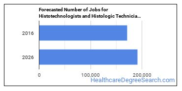 Forecasted Number of Jobs for Histotechnologists and Histologic Technicians in U.S.