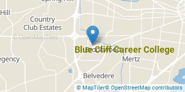Location of Blue Cliff Career College