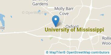 Location of University of Mississippi