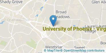 Location of University of Phoenix - Virginia