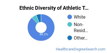 Athletic Training Majors in DE Ethnic Diversity Statistics