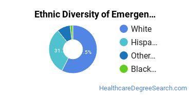 Emergency Medical Technology Majors in AZ Ethnic Diversity Statistics