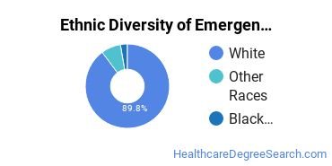Emergency Medical Technology Majors in IN Ethnic Diversity Statistics