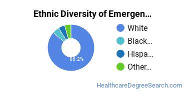 Emergency Medical Technology Majors in SC Ethnic Diversity Statistics