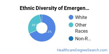 Emergency Medical Technology Majors in WA Ethnic Diversity Statistics
