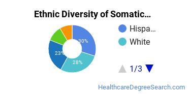 Bodywork & Therapeutic Services Majors in CA Ethnic Diversity Statistics