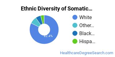 Bodywork & Therapeutic Services Majors in WI Ethnic Diversity Statistics
