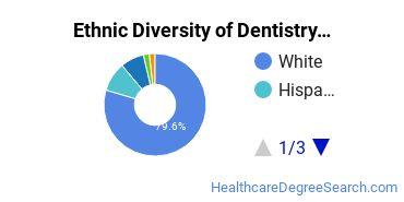 Dentistry Majors in ME Ethnic Diversity Statistics