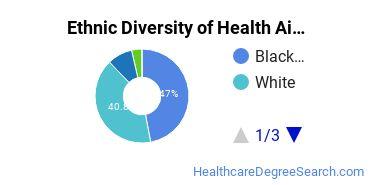 Health Aids & Attendants Majors in LA Ethnic Diversity Statistics