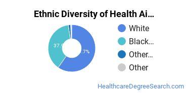 Health Aids & Attendants Majors in SC Ethnic Diversity Statistics