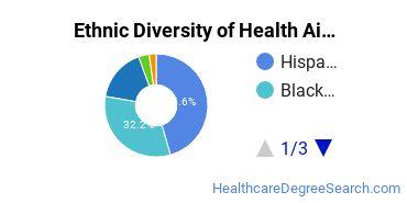 Health Aids & Attendants Majors in TX Ethnic Diversity Statistics