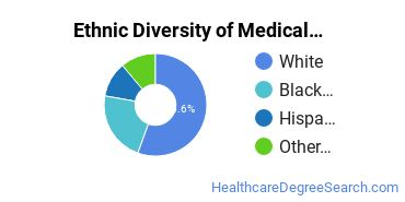Medical Staff Services Technician Majors in SD Ethnic Diversity Statistics