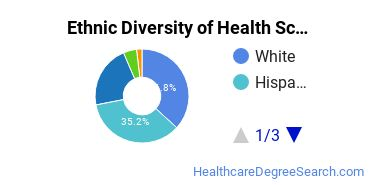 Health Sciences & Services Majors in TX Ethnic Diversity Statistics