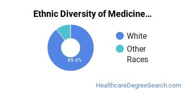 Medicine Majors in SD Ethnic Diversity Statistics