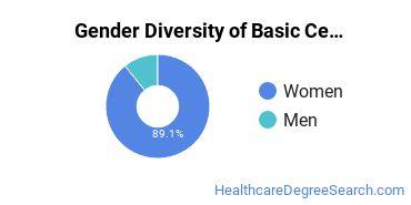 Gender Diversity of Basic Certificates in Nursing