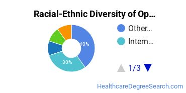 Racial-Ethnic Diversity of Optometric Support Students with Bachelor's Degrees