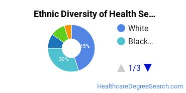 Health Services Administration Majors in DC Ethnic Diversity Statistics
