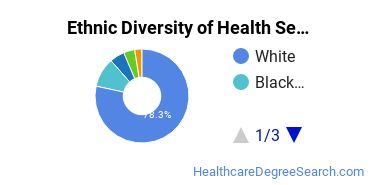 Health Services Administration Majors in PA Ethnic Diversity Statistics