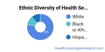 Health Services Administration Majors in SC Ethnic Diversity Statistics