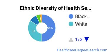 Health Services Administration Majors in WI Ethnic Diversity Statistics
