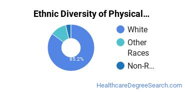 Physical Therapy Majors in RI Ethnic Diversity Statistics